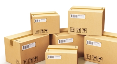 Picture of boxes for affordable courier and overnight delivery services.