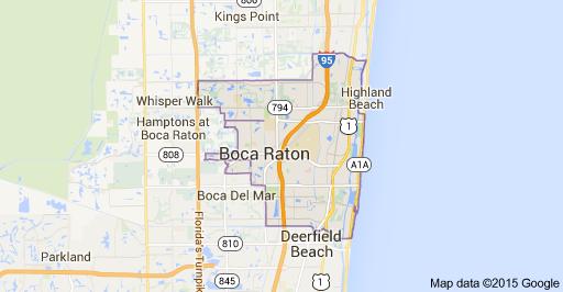 Boca Raton Courier Services - Boca raton florida map